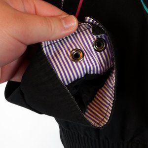 Vintage Jackets & Coats - 3/$20 90s Karizma Jacket Black Green Purple Pink